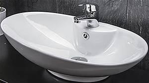 Waschbecken Oval Aufsatz : design keramik waschschale aufsatz waschbecken waschtisch ohne armatur ~ Orissabook.com Haus und Dekorationen