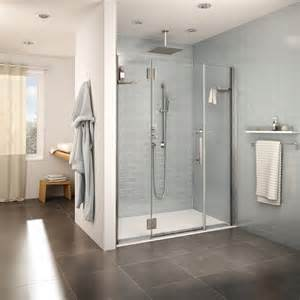 Textured Glass Shower Doors by Fleurco Introduces The Accessible Design Shower Bases A