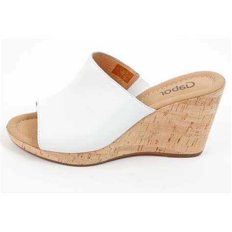 womens black wedges gabor shoes maple womens wedge sandal in white mozimo