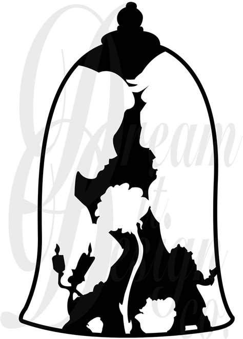 Disney Beauty and the Beast Design for Silhouette Studio Cut