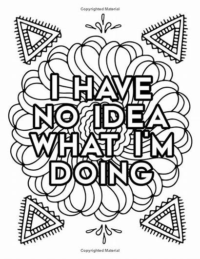 Coloring Quotes Funny Adult Adulting Swear Word