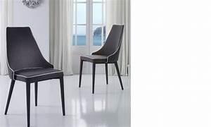 Chaise De Salle A Manger Blanche : chaise salle a manger grise et blanche design roan lot de 2 ~ Voncanada.com Idées de Décoration