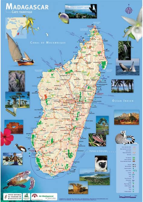 Carte Touristique Du Centre De La by Info Carte Touristique Madagascar