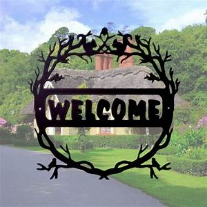 Welcome, Sign, U2013, Ornamental, Wrought, Iron