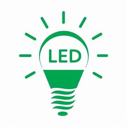 Led Lighting Symbol Clip Energy Icon Bulb