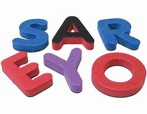 Magnetic foam small uppercase letters tcr20624 for Small foam letters