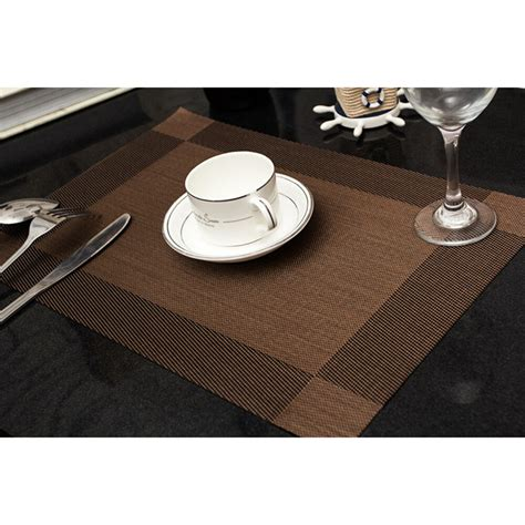 Table Mats - home pvc insulation bowl tableware placemats place mat