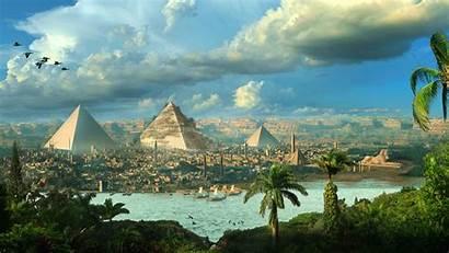 Egypt Pyramids Fantasy Cityscape 1080p Widescreen Richard