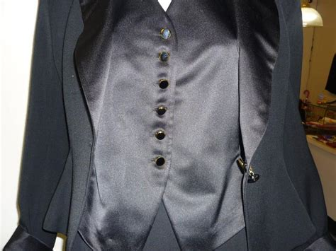 1980s Christian Dior Three-piece Tuxedo Suit (8) New Old