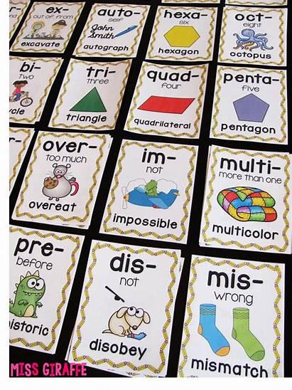 Prefixes Suffixes Teaching Kindergarten Word Posters Grade