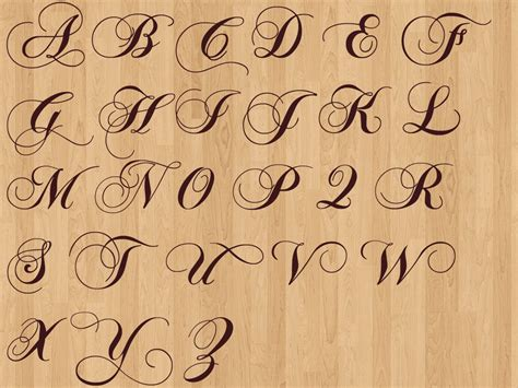 Fancy Cursive Calligraphy Alphabet B&w Home Theater Speakers Build Your Own Office Desk Magnolia Powered Subwoofer Microsoft For Use Collections Executive Storage Cabinets