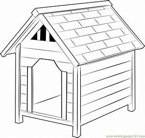 Dog Houses Coloring Page - Free Dog House Coloring Pages ...