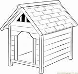 Dog Coloring Houses Doghouse Coloringpages101 Template sketch template