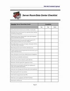 modern server installation checklist template pictures With data center checklist template