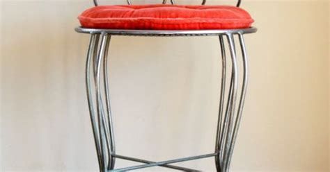 reserved for therese3000 vintage metal vanity chair stool