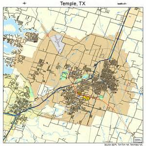 Temple Texas On Map