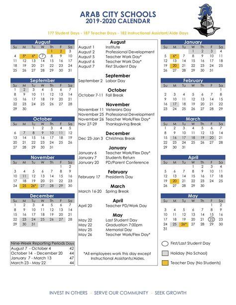 academic calendars acs calendar