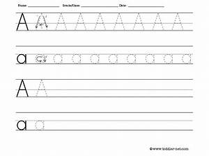 tracing and writing letter a worksheet With write a letter and print online