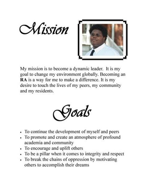 personal mission statement on resume costa sol real