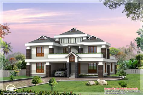 Luxury Home Plans With Pictures by Luxury Indian Home Design Kerala Floor Plans House