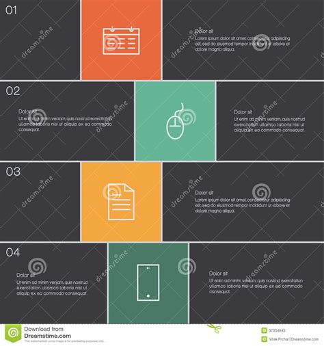 vector modern design template clean presentation with