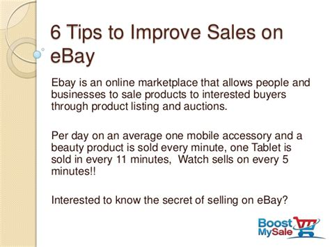 6 Tips To Increase Sales On Ebay
