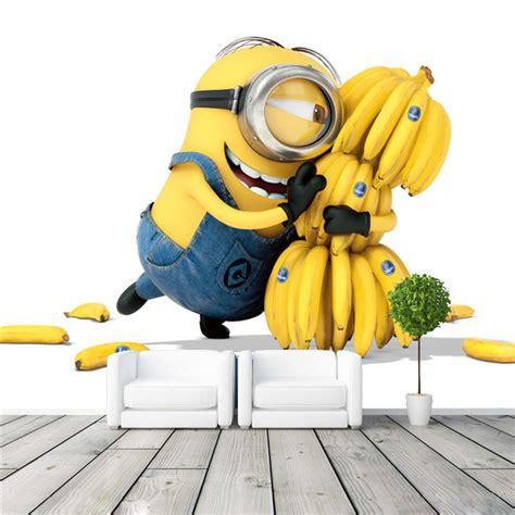 chambre de commerce en anglais mignon minions et bananes bande dessinée papier peint