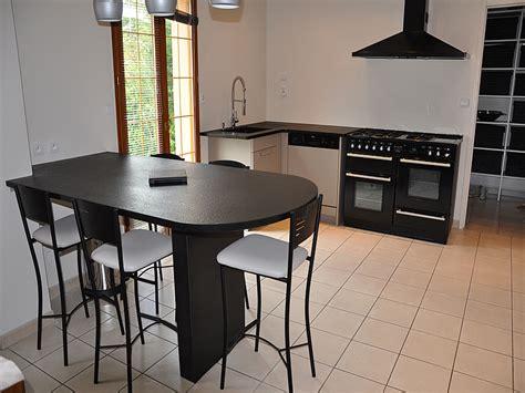 table de cuisine noire maison design wibliacom