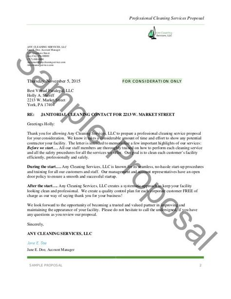 business proposal template  cleaning services business