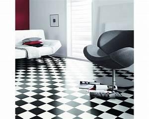 PVC Lord Schachbrett schwarz weiss 200 cm breit (Meterware