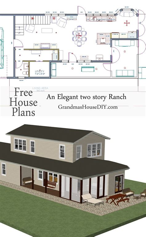 4 story house plans free house plan an two story ranch grandmas