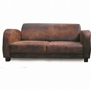 canape 3 places golf les meubles du chalet With vieux canapé cuir