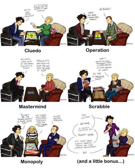 sherlock board games cards fan deviantart game playing drawings