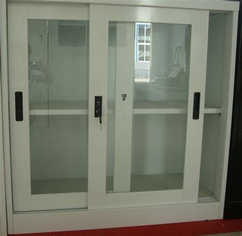 metal cabinet with glass doors storage cabinets used steel storage cabinets