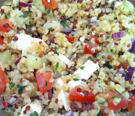bureau asiatique salade composée quinoa boulgour déjeuner au bureau