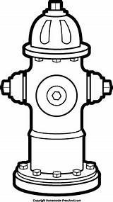 Fire Clipart Hydrant Drawing Safety Getdrawings Preschool Bw sketch template