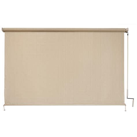 wallingford l and shade coolaroo sesame cordless exterior roller shade 96 in w
