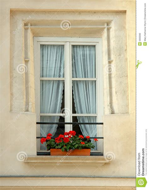 Floral Red Curtains by Window With Flowers Stock Photo Image 5900090