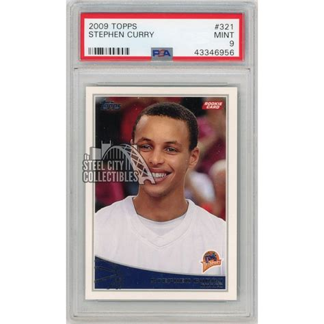 Check spelling or type a new query. Stephen Curry 2009-10 Topps Basketball Rookie Card RC #321 PSA 9 Mint   Steel City Collectibles