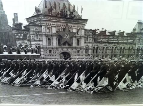 soviet victory parade 1945 red square by