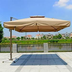 Solde Parasol Déporté : 8 2 pi parasol d port ext rieur en polyester de luxe simple toile rectangulaire 921al 1 ~ Preciouscoupons.com Idées de Décoration