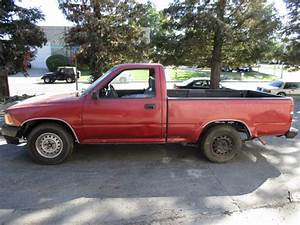1993 Toyota Truck Red Half Ton 2 4l At 2wd Short Bed