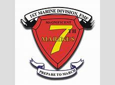 1st Marine Division 7th Marine Regiment AKA RCT7 Sticker