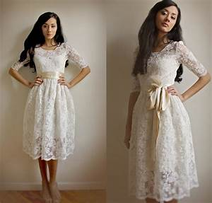 Ellie2 piece lace and cotton wedding dress esty exclusive for Wedding dress etsy