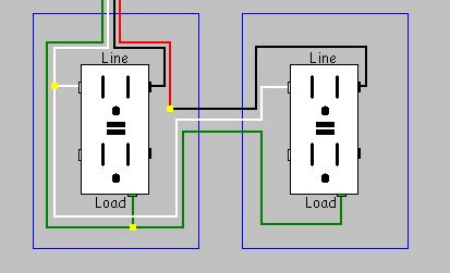 2 Phase Gfci Wiring Diagram by Electrical Can I Install Two Gfci Receptacles On A