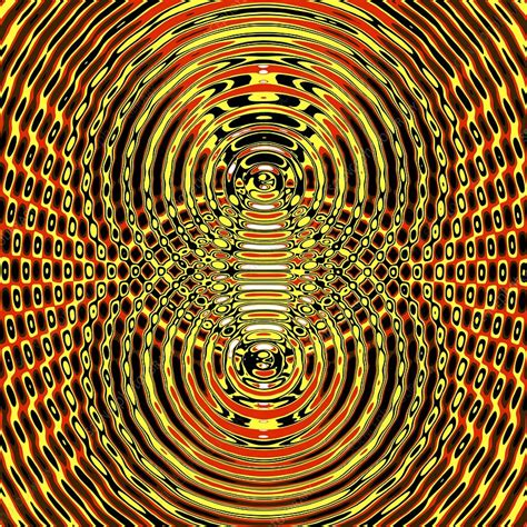 Circular wave interference, illustration - Stock Image ...
