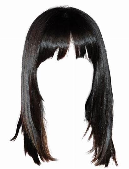 Wig Clipart Hairstyle Straight Transparent Lace Pull