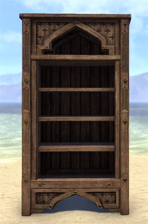 eso fashion redguard bookcase arched elder scrolls