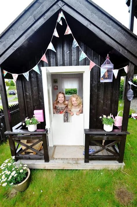 black  white outdoor kids playhouses homemydesign