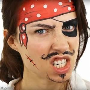 Maquillage Pirate Halloween : maquillage garcon simple pirate ~ Nature-et-papiers.com Idées de Décoration